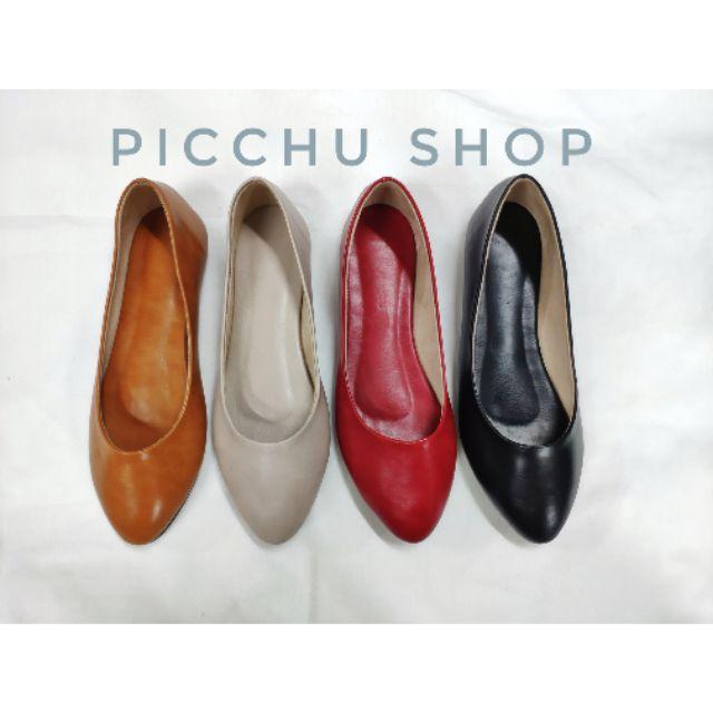 รองเท้าคัชชู รองเท้าคัชชูหนังนิ่ม รองเท้าผู้หญิง