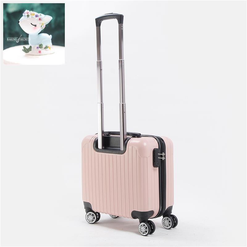 มินิกระเป๋าเดินทางหญิงกระเป๋าเดินทาง 16 นิ้วกรณีรถเข็นขยายได้กระเป๋าเดินทางขนาดเล็กสำหรับธุรกิจ 18 นิ้วใสขนาดเล็ก