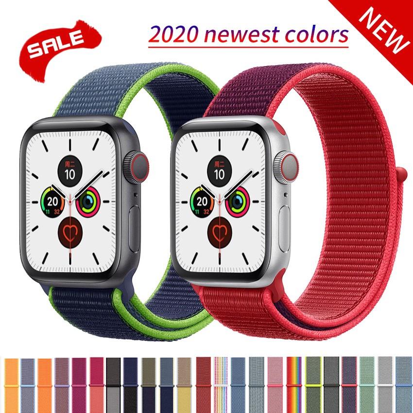 สายนาฬิกาไนล่อนสําหรับ Apple Watch Band 44 มม . 40 มม . Iwatch Series 5 4 Band 42 มม . 38 มม .