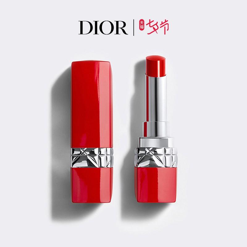 ▦✑♤[ของขวัญวันวาเลนไทน์จีน] Dior Dior Blue Gold True Red Lipstick Lipstick Red Tube 999 641 Semi-matte
