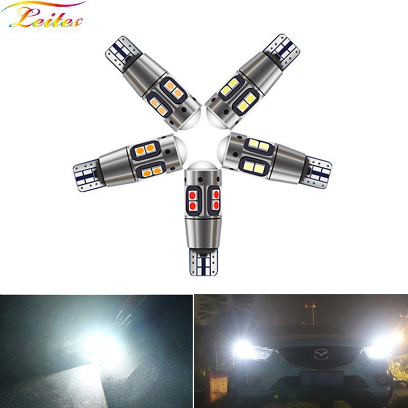 1PCS รถยนต์ T10 LED Canbus W5W 3030 10SMD 12V-24V 194 168 อัตโนมัติ LED รถยนต์ภายในแผงโคมไฟโดมอ่านหนังสือโคมไฟช่องว่าง 12V