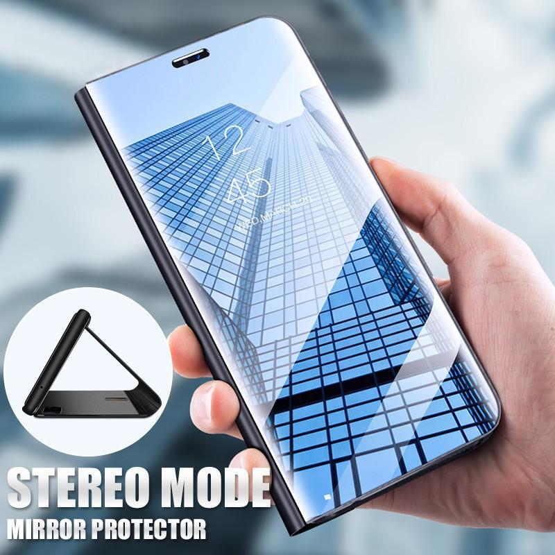 Samsung Galaxy J3 J5 J7 Pro 2017 เคสกัน Clear Smart View Flip Stand Mirror  เคสไอโฟน H2683
