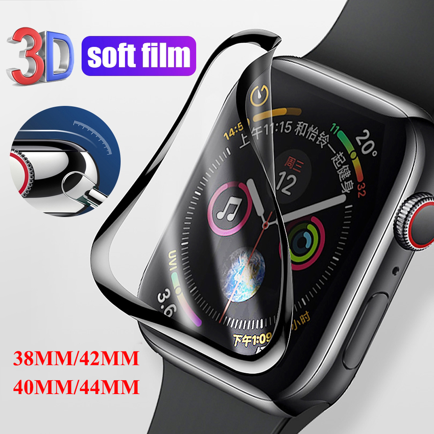 Soft Screen protector film for Apple Watch case 40mm 44mm 42mm 38mm.