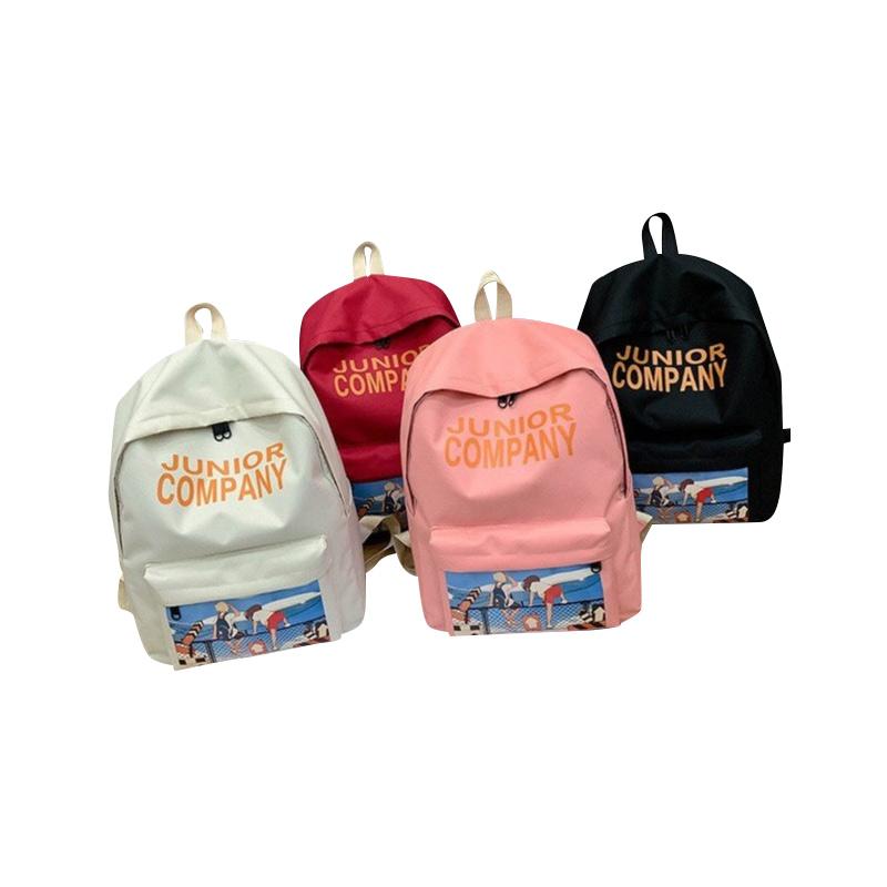 🔥 OK0038 🔥 กระเป๋าเป้ JUNIR COMPANY พิมพ์ลายน่ารักๆ สินค้าพร้อมส่งจากไทย