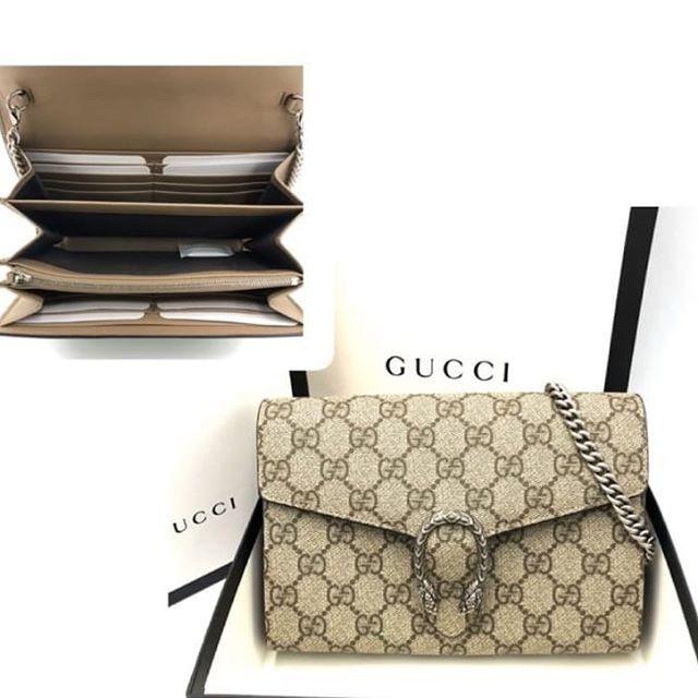 New gucci Dionysus GG Supreme chain wallet dmt. W20cm x H13cm x D6cm full set with rec. 32,999฿