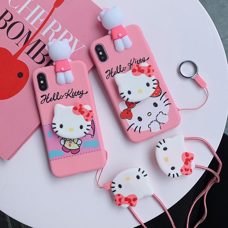 Samsung Galaxy A6 A6+ 2018 A8 A8+ 2018 A7 2018 A9 2018 A5 2018 A5 A7 2017 A520 A720 A9s A9 Star Pro Hello Kitty Socket Soft Jelly Case