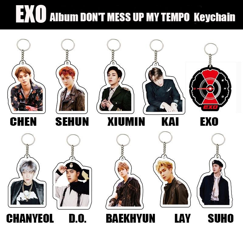 Review EXO พวงกุญแจ KeyChain DON'T MESS UP MY TEMPO Acrylic Keyring KPOP