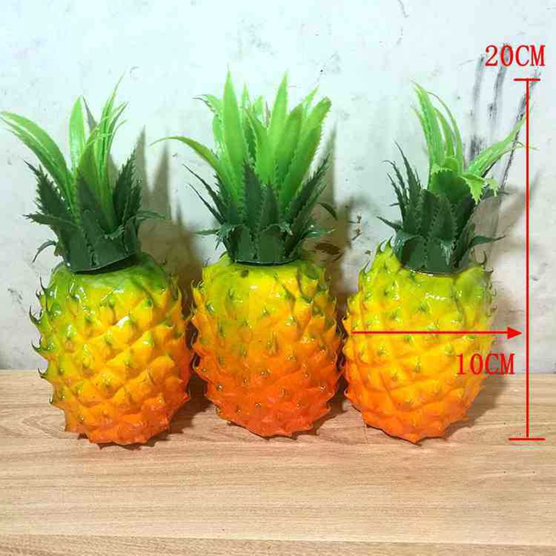 Foam Artificial Fake Pineapple Fruit Home Kitchen Cabinet Window Table Display