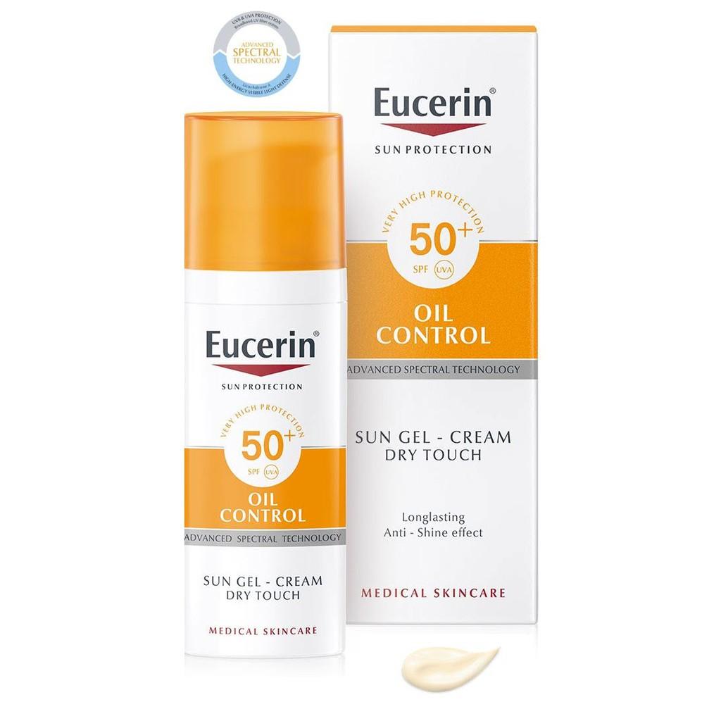 50 ml Eucerin Sun Gel-Creme Oil Control Dry Touch. SPF50 PA+++ ครีมกันแดด คุมมัน ดรายทัช
