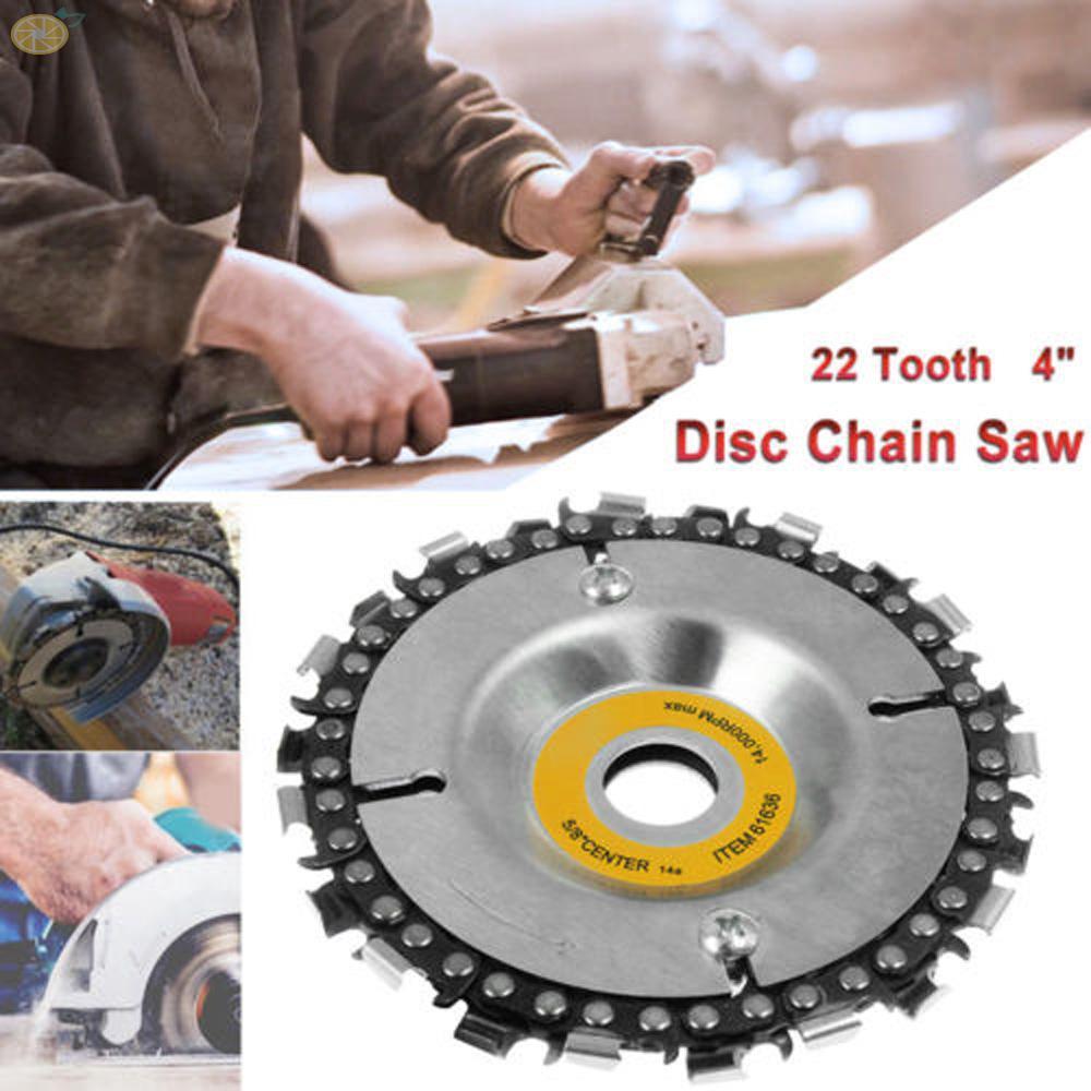 Chain saw disc 22 teeth Equipment Abrasive wheel Round Woodcarver Silver
