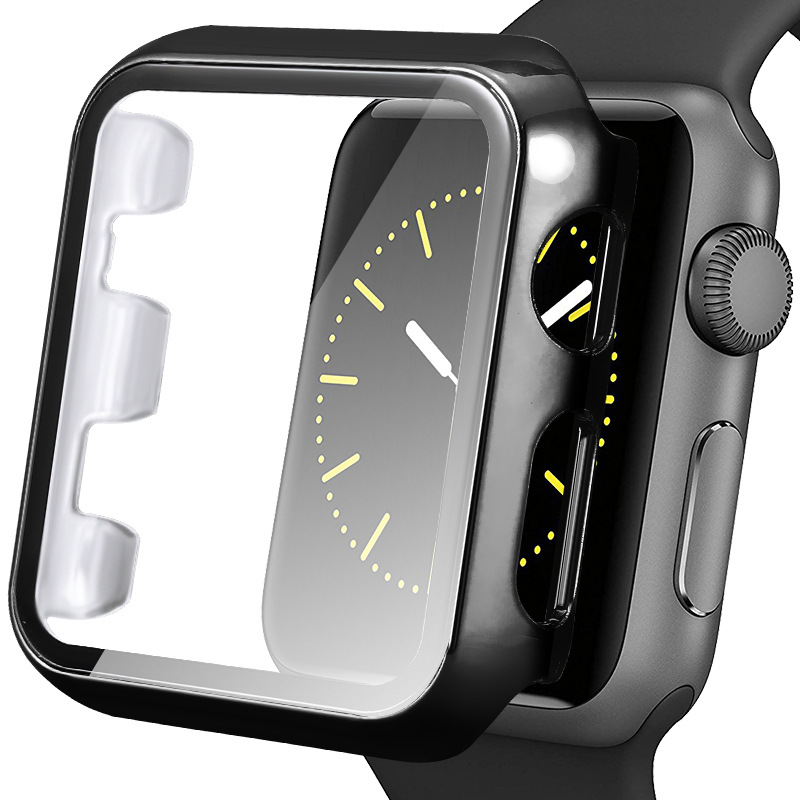 Lykry Apple Watch Case with Tempered Glass 2-in-1 Design for IWatch Series 5/4/3/2/1 38/40/42/44mm