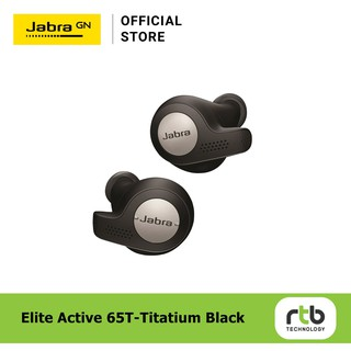 [ผ่อน 0%] Jabra Elite Active 65t True Wireless Bluetooth Earbuds - Titanium Black