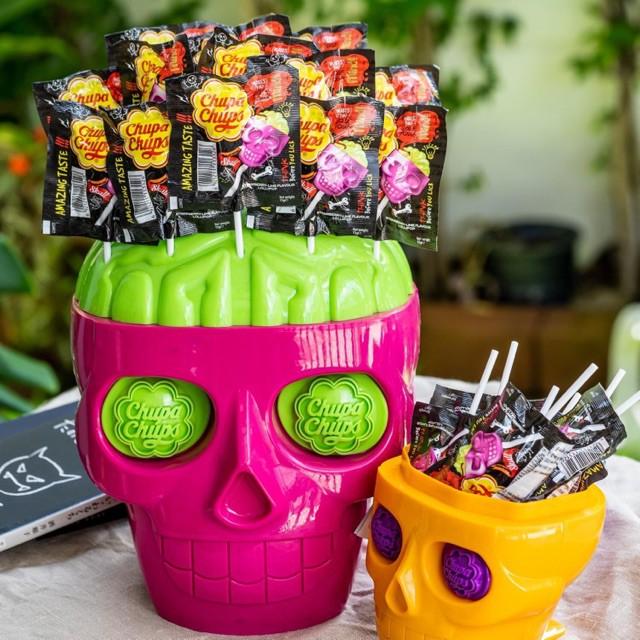 🍭🎃 สีชมพูมาแล้ว! Chupa Chups 3D Skull หัวกะโหลก จูปาจุ๊ปส์ / ChupaChups จูปาจุ๊บ มี 2 ขนาด