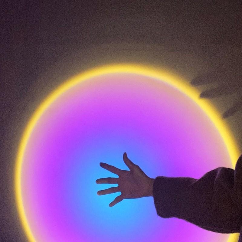 [ของเข้า5มีค.] Projector lamp โคมไฟโปรเจคเตอร์RGB สีรุ้ง พระอาทิตย์ตก