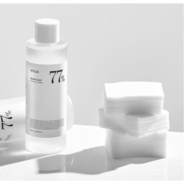 [แท้/พร้อมส่ง] anua cotton pad for toner 120 sheet