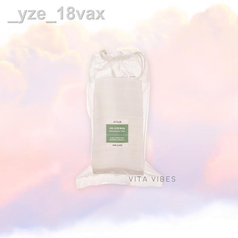 ❁แท้ฉลากไทย Anua cotton pad for toner 120 แผ่น.