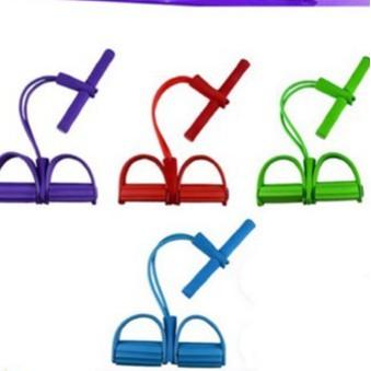 ยางยืดออกกำลังกาย  เชือกออกกำลังกาย 4 เส้น ผ้ายืดออกกำลังกาย ยางยืดแรงต้าน  ยางยืดออกกำลังกายแรงต้านสูง