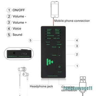 [ready stock] 7 Different Sound Changes Voice Changer Device For Computer/Laptop/Tablets [TH]