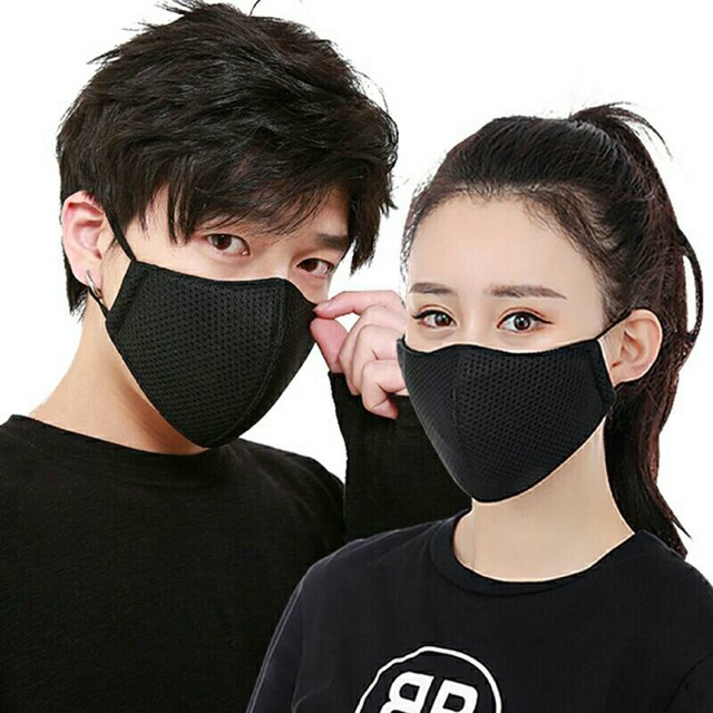 แมสเกาหลี แมสสีดำ หน้ากากสีดำ หน้ากากผ้าสีดำ  ผ้าปิดจมูก