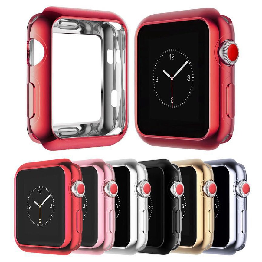Apple Watch strap iwatch Suitable for Apple Watch Protective Case Series4 Electroplating Shell iwatch3/2/5 generation tp