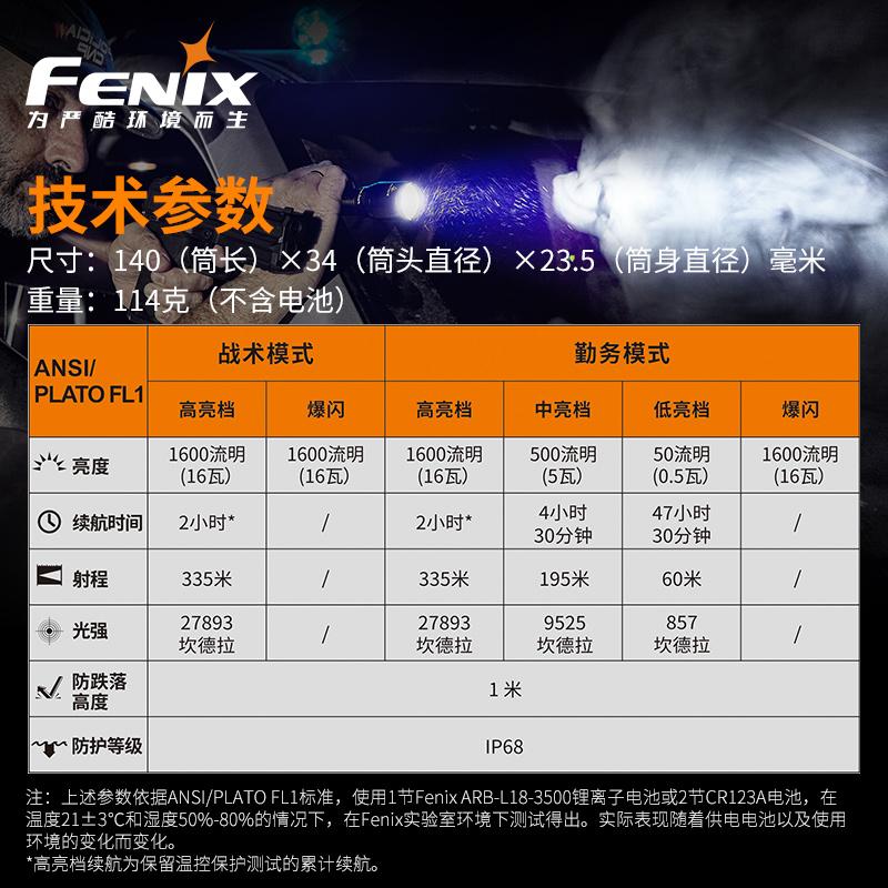 ไฟฉาย led Fenix TK11 TACไฟฉายLEDภาพยาวสว่างสุดๆ18650แบตเตอรี่กันน้ำยุทธวิธีไฟฉาย TaJ6