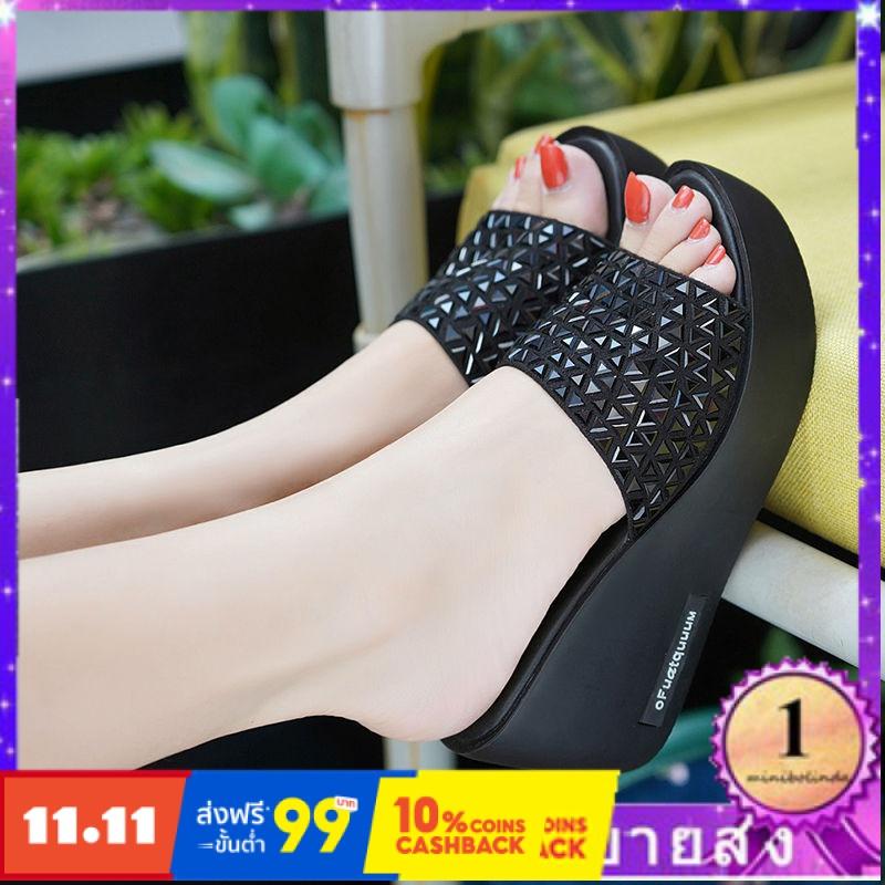 ⭐👠รองเท้าส้นสูง หัวแหลม ส้นเข็ม ใส่สบาย New Fshion รองเท้าคัชชูหัวแหลม  รองเท้าแฟชั่นรองเท้าแตะของผู้หญิงและรองเท้าแตะลิ