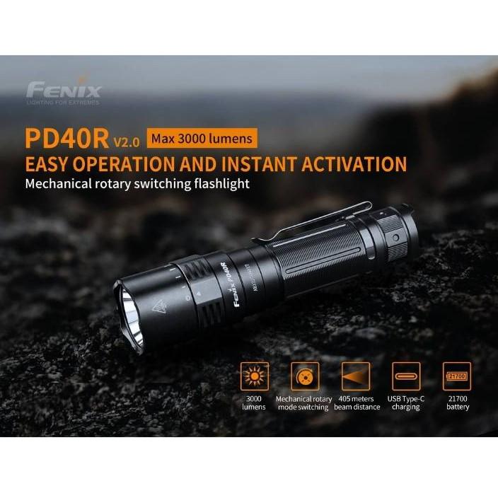 ไฟฉายFenix PD40R 3000lm