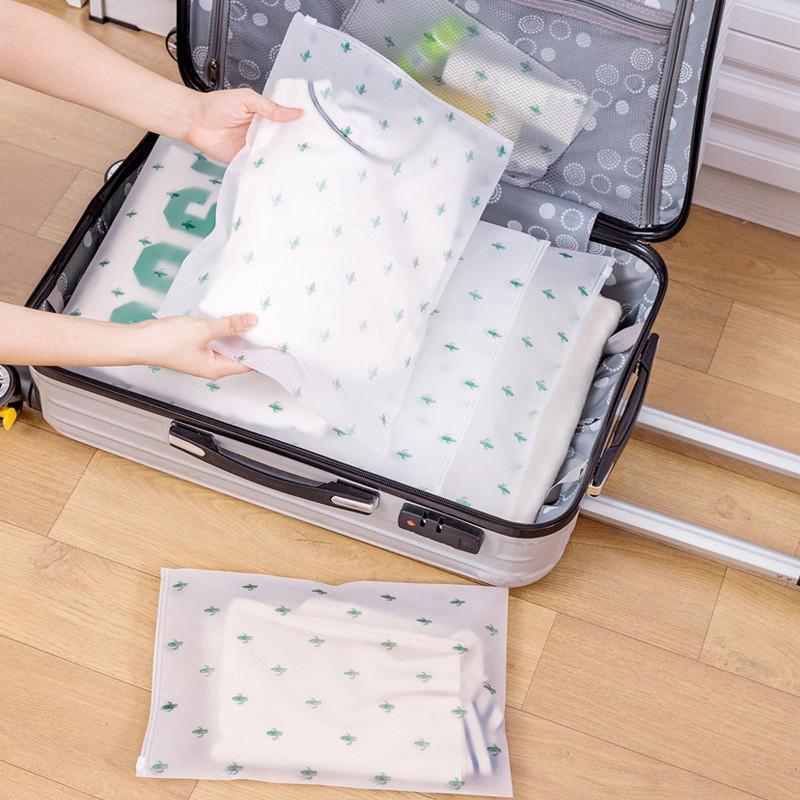กระเป๋าเก็บของแบบใสกันน้ำสำหรับเดินทาง 20 x 28