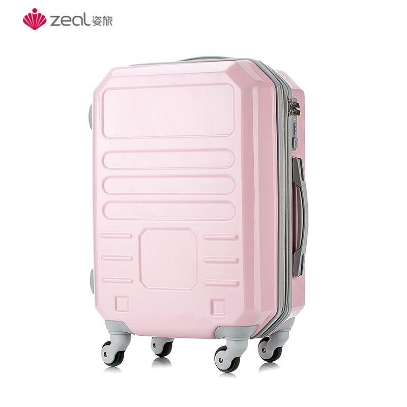 ➳セ กระเป๋าเดินทางล้อลาก กระเป๋าเดินทางล้อลากใบเล็กกรณีรถเข็นกระเป๋าเดินทางขนาดเล็กผู้หญิง24นิ้วตาข่ายสีแดงINSนักเรียนใหม