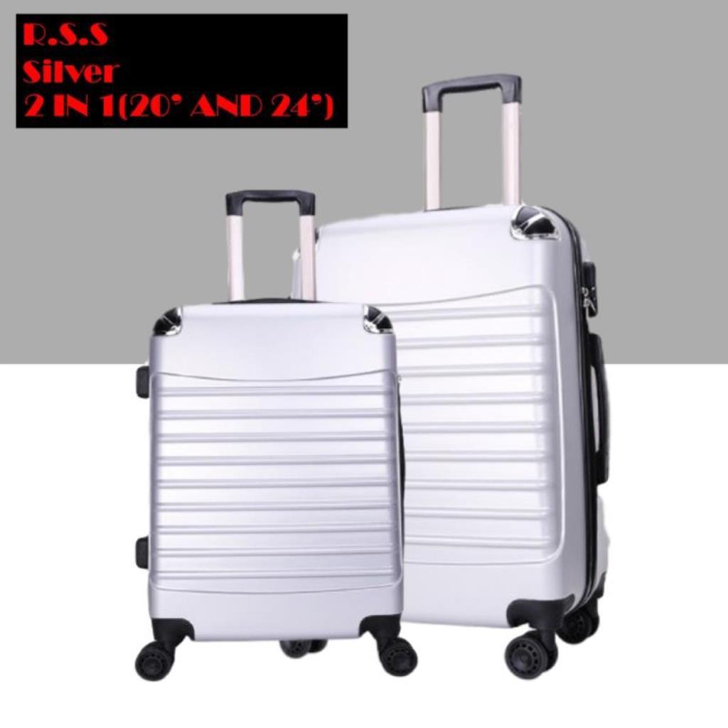กระเป๋าเดินทาง Abs 2 In 1-7 สี (20 นิ้ว + 24 นิ้ว)
