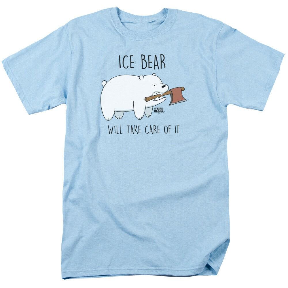 เสื้อยืดพิมพ์ลาย We Bare Bears Take Care Of It Licensed Gildan สําหรับผู้ชาย