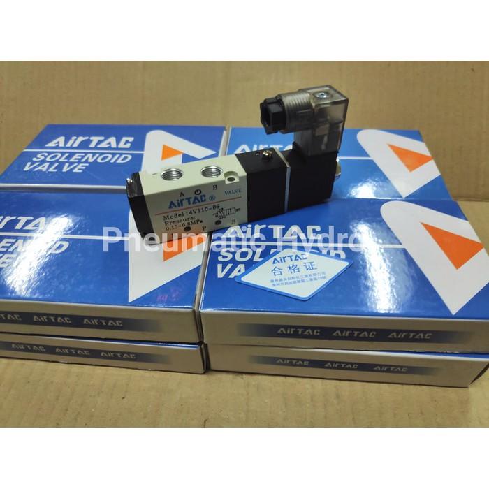 Selenoid วาล์วนิวเมติก Airtac 4v110-06 Ac220 Soket