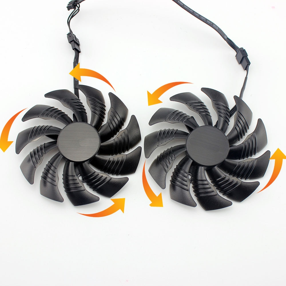 T129215SU 88MM LD09210S12HH 4in Cooling Fan for GIGABYTE GTX 1070 1070Ti Fan  for GIGABYTE RX570 580 Grahics Card Cooler