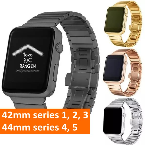 สายนาฬิกาข้อมือสแตนเลส Apple Watch Series 6 5 4 3 2 1 Band 42 มม. 44 มม.
