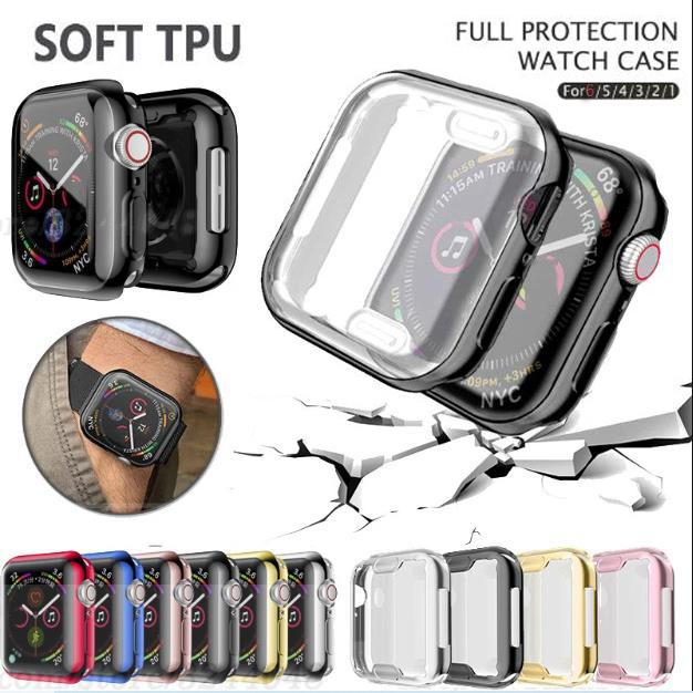 เคสนาฬิกาข้อมือ Apple Watch6/5 Case 44mm/40mm I Watch 42mm 38mm 40 44mm อุปกรณ์เสริมสําหรับ Apple Watch Series 3 4