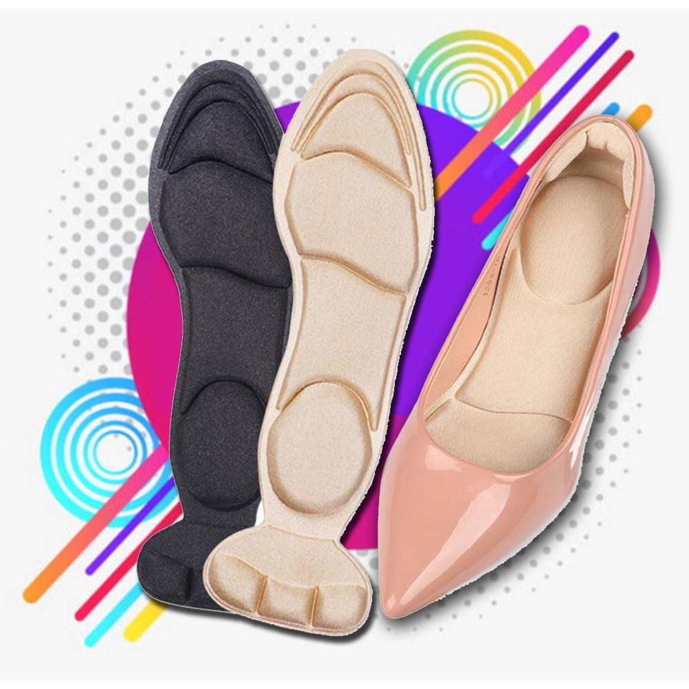 ⚘แผ่นรองเท้า 7D แผ่นกันรองเท้ากัด แผ่นเสริมรองเท้า แผ่นกันกัดรองเท้าคัชชู แผ่นแก้รองเท้าหลวม ตัดขนาดไซส์ได้ตามต้องการ☉