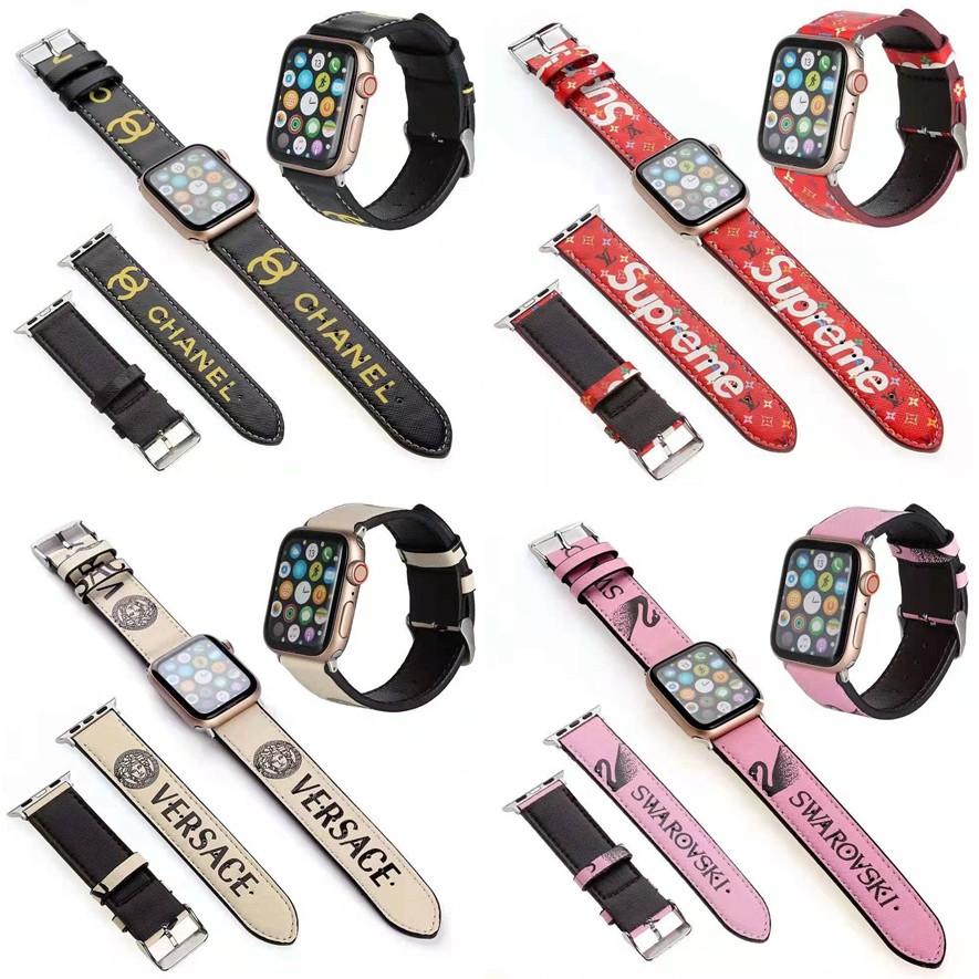 แฟชั่น apple watch strap สายนาฬิกาหนัง iwatch series SE 6 5 4 3 2 1 สาย applewatch 38 40 42 44mm
