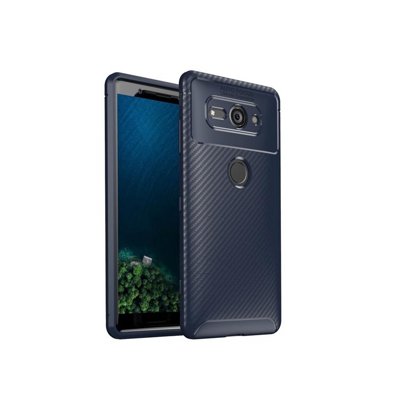 เคสโทรศัพท์คาร์บอนไฟเบอร์สําหรับ Sony Xperia Xz2 Compact Xz 2