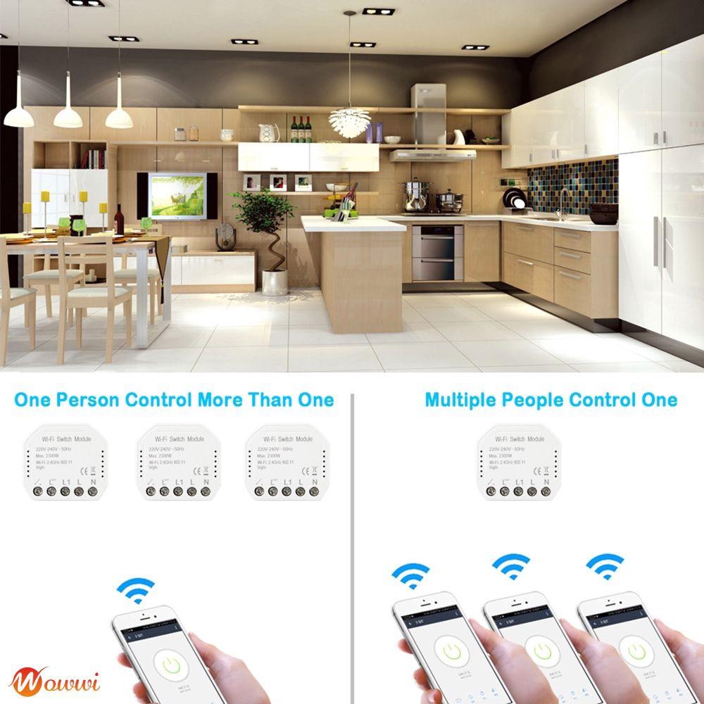 ♡ Wifi Smart Light Switch Automation Module Smart Life/Tuya APP