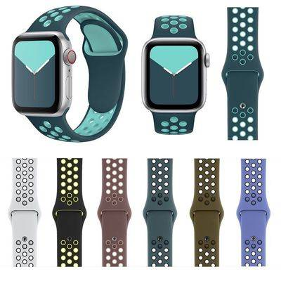 สายนาฬิกาอัจฉริยะ สายนาฬิกา สายนาฬิกา applewatch สาย applewatch Applicable iWatch6 strap apple watch sports silicone tab