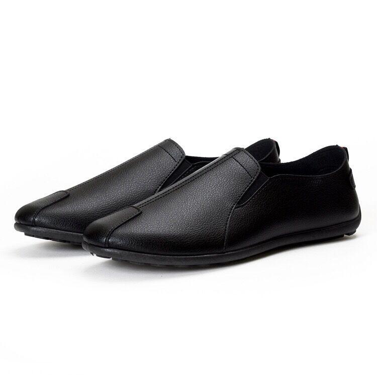 รองเท้าคัชชูเปิดส้น รองเท้าแตะรัดส้น รองเท้า Sale‼️ 🔥New รองเท้าแฟชั่น ผู้ชาย รองเท้าหนังแบบสวม 3สี (สีขาว ) (สีดำ)(สีส