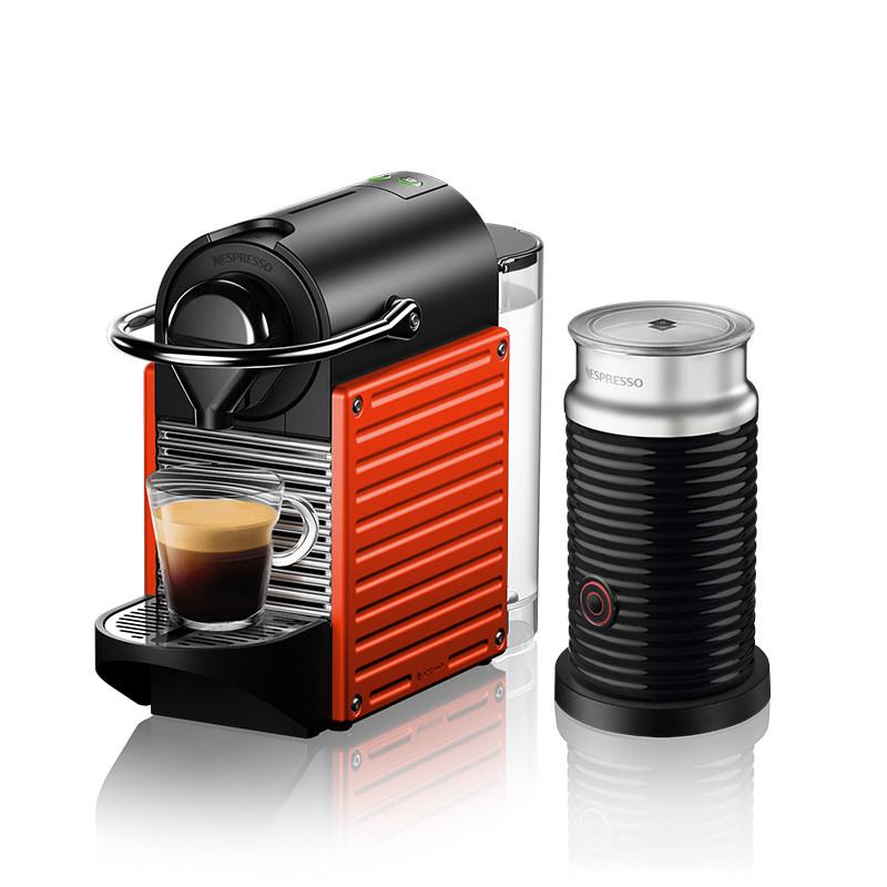 กาแฟNESPRESSO อิตาลีนำเข้าสำนักงานบ้านอัตโนมัติเต็มรูปแบบPixieเครื่องชงกาแฟแคปซูลพร้อมเครื่องทำนม