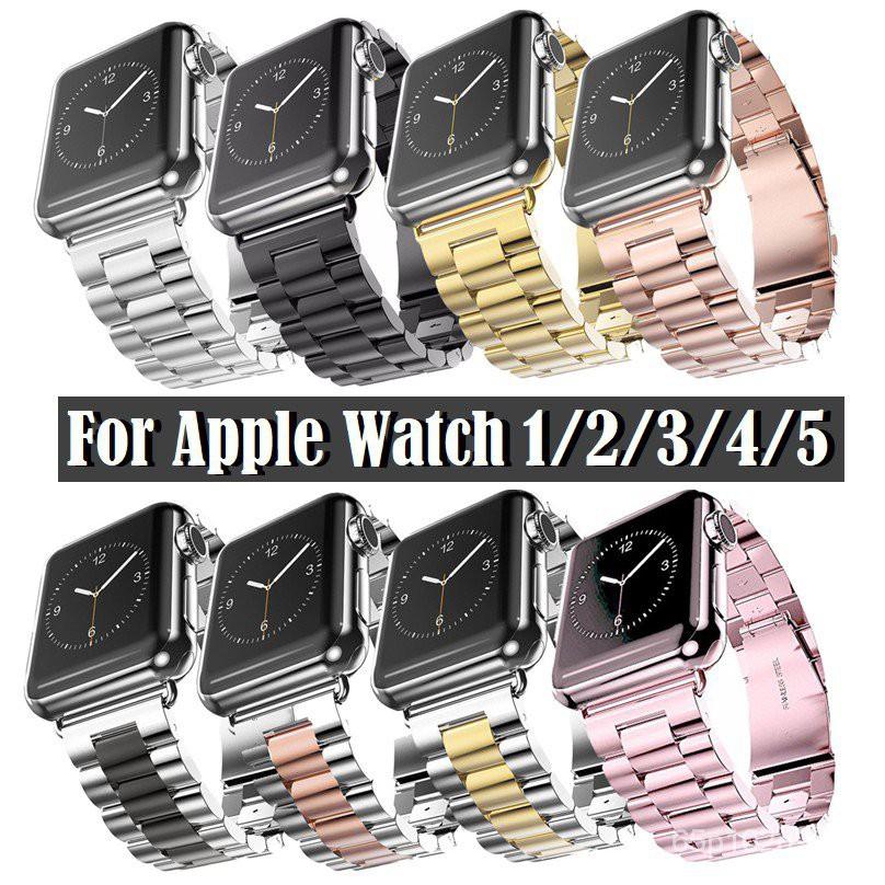 สาย Applewatch เหล็กกล้า สายนาฬิกา Apple watch Series 6 5 4 3 2 1,Apple Watch SE Strap Stainless Steel Watch band Apple