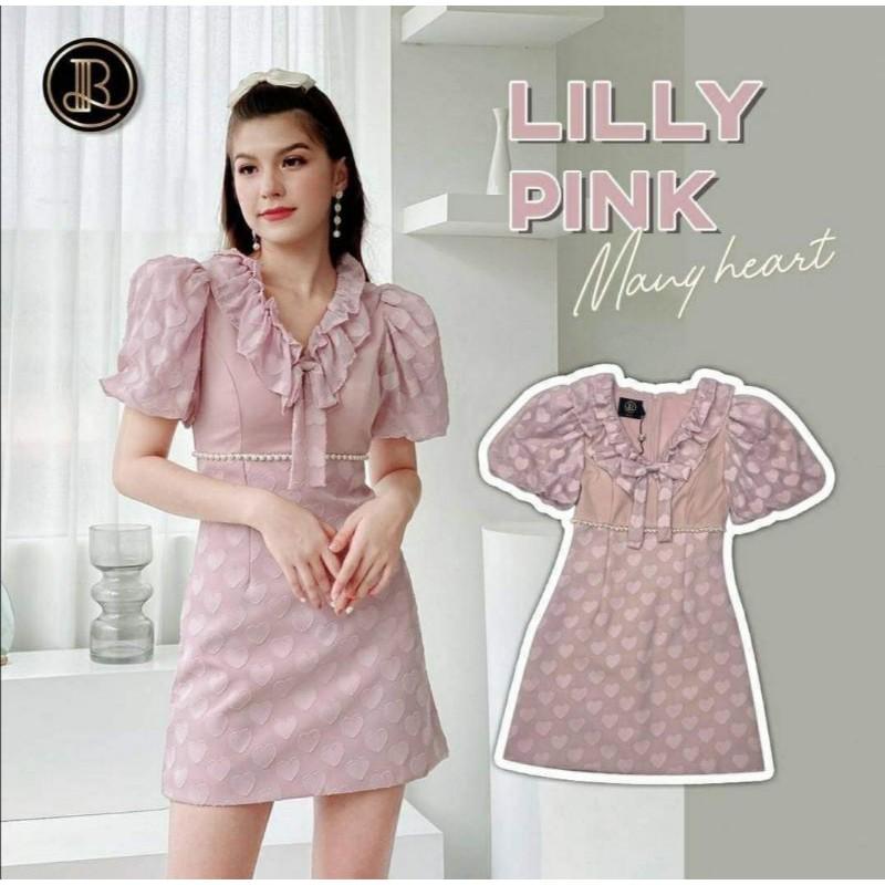 Lilly pink ของ blt_brand ตัวนี้ลายผ้า วิบวับๆกับแสงคะ xs คะ