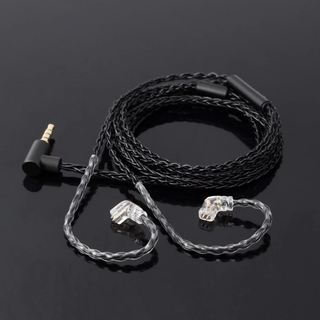 JCALLY JC08S 8 Shares 2Pin 0.78mm MMCX Earphone Upgrade Cable with Mic for KZ ZSN PRO X ZST PRO X ZSX AS16 BL-03 BL-05  ST1 BA5