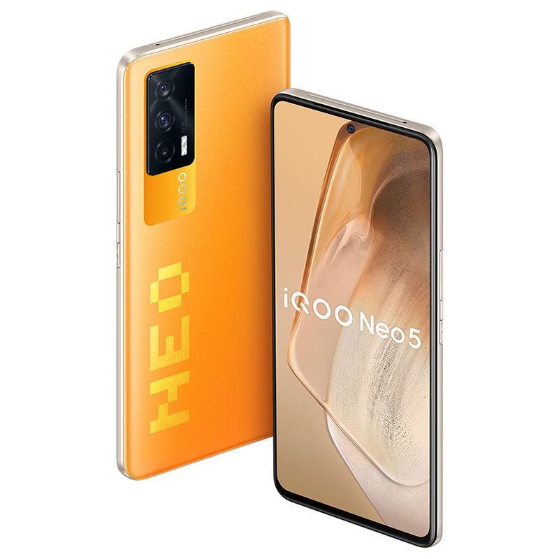 手机▥✚✱ระบุจุดปล่อยอย่างรวดเร็ว vivo iQOO Neo5 Snapdragon 870 ชิปแสดงผลอิสระ 66W แฟลชชาร์จสมาร์ทโฟน 5G