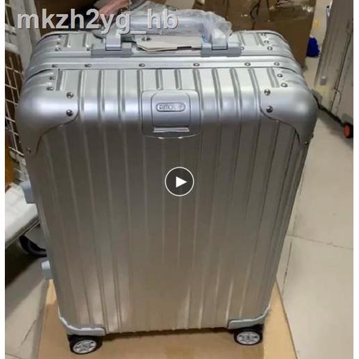 กระโปรงหลังรถ❖>R Jiarimowa กระเป๋าเดินทางล้อลากอลูมิเนียมทั้งหมด 20/24 นิ้ว กระเป๋าเดินทางรหัสผ่านโลหะผสมอลูมิเนียมและแม