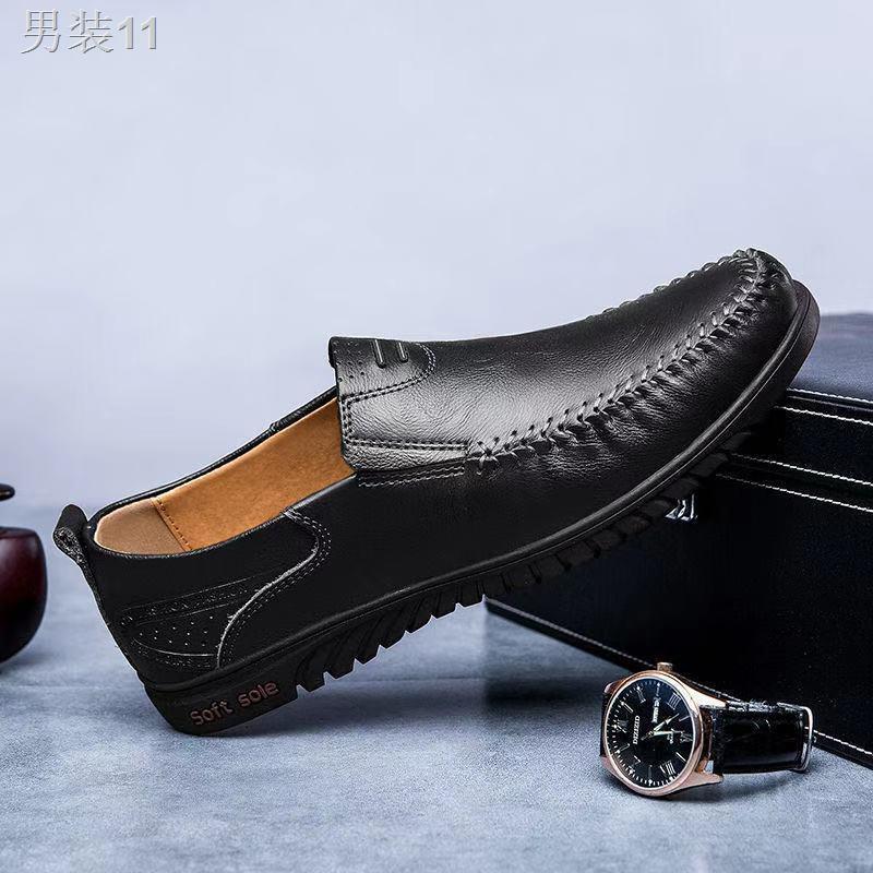 ♂◇รองเท้าไม่มีส้นของผู้ชายรองเท้าคัชชูชายรองเท้าหนังชายรองเท้าคัชชู ผช