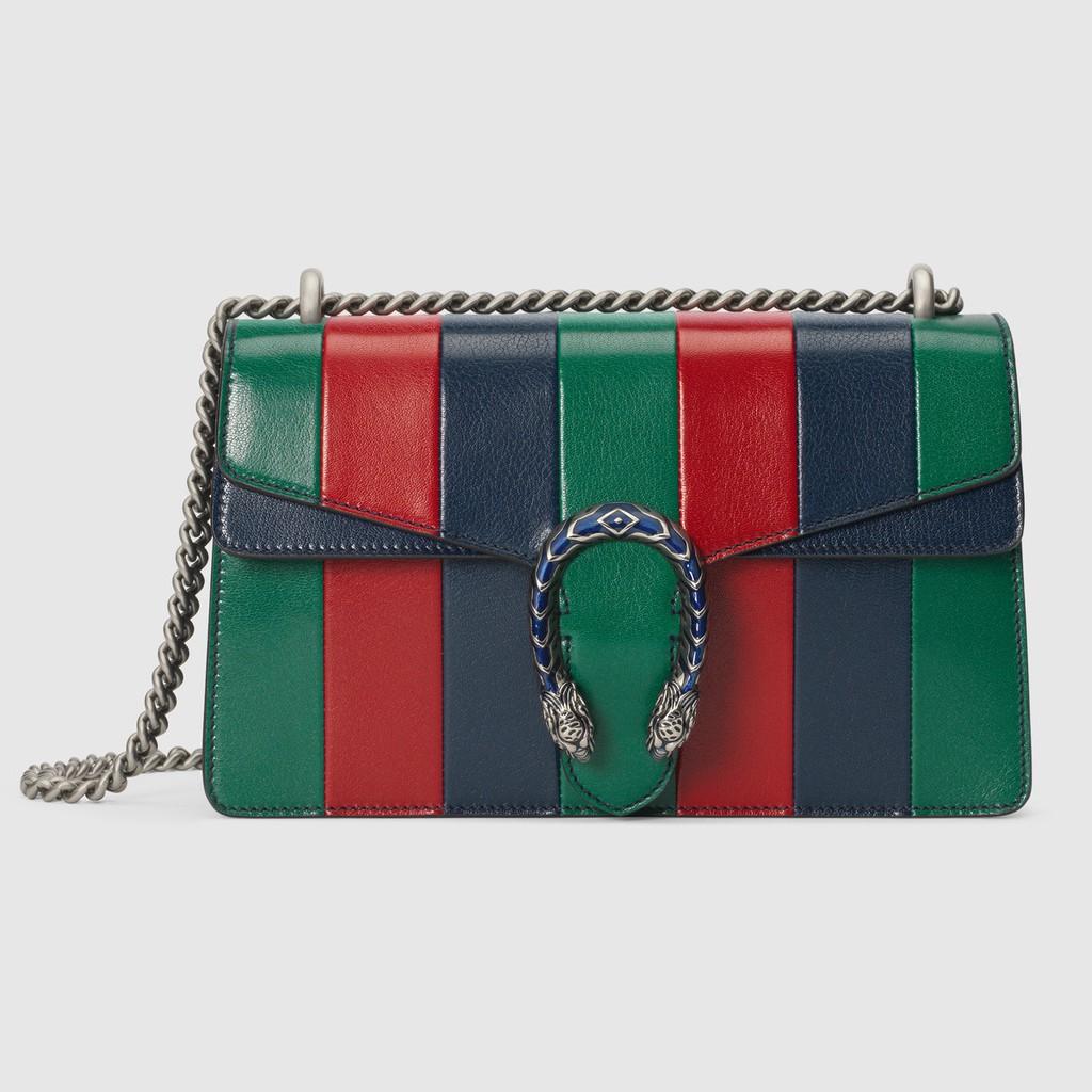 Gucci / New / Dionysus series กระเป๋าสะพายใบเล็ก / กระเป๋าถือ / หนังลายสี / ของแท้ 100%