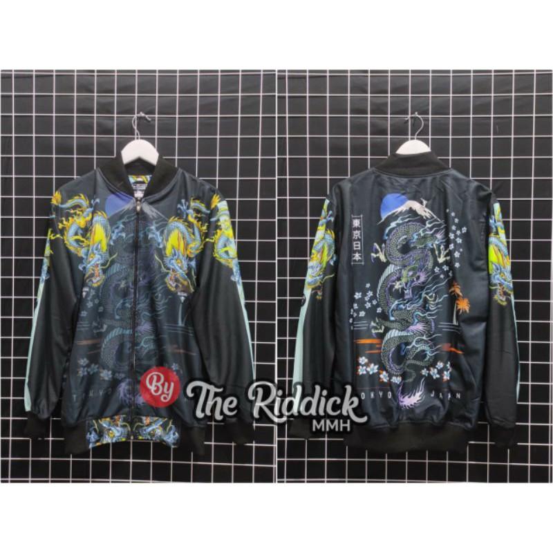 Sukajan เสื้อแจ็คเก็ตบอมเบอร์ / เสื้อแจ็คเก็ต / Sukajan Orochi / Sukajan Bomber Jacket / Sukajan Bomber